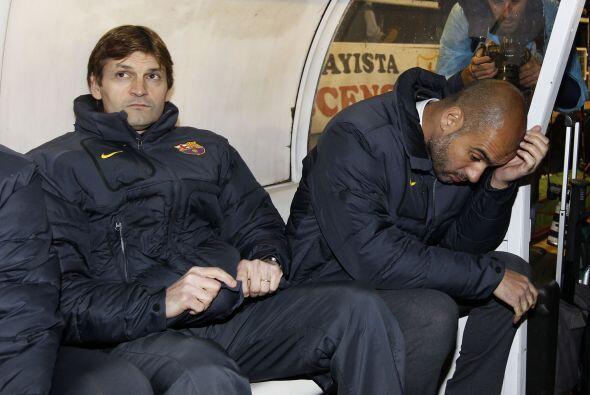Incluso se notaba la preocupación de Guardiola.