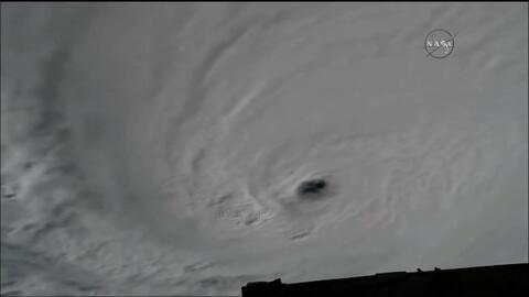 El huracán Matthew desde la Estación Espacial Internacional