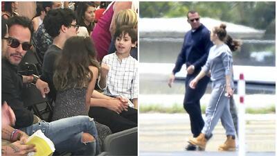 Marc Anthony estuvo junto a sus hijos celebrando el logro de Ryan, mient...