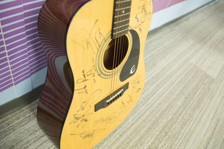 Ganadora guitarra autografiada PLN 2017