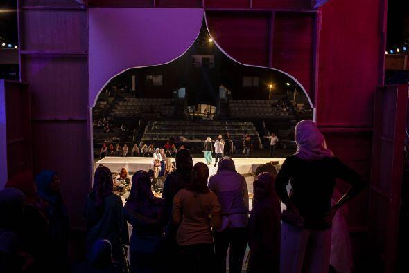 El evento se realizó en Prambanan, un conjunto de templos hindúes del si...