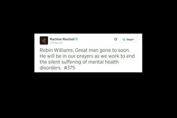 Machine Marshall también recordó al actor.
