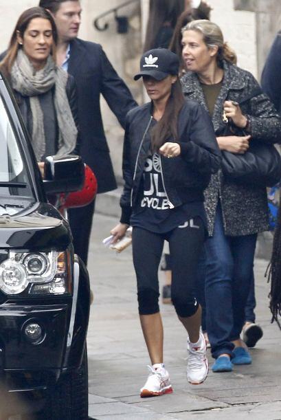 Tenemos que reconocer que a pesar de traer prendas deportivas, Victoria...
