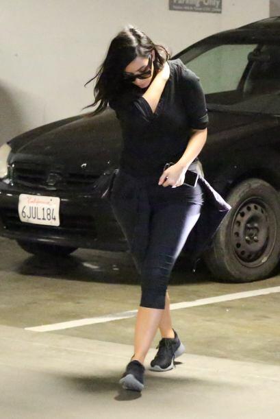 En estas imágenes se ve a la Kardashian luciendo triste.