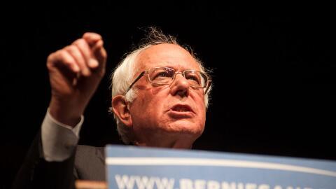 Bernie Sanders habla en Laramie, Wyoming, tras su victoria en Wisconsin