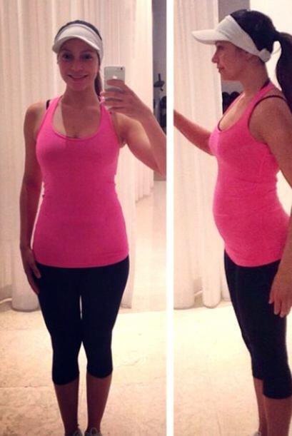 A las dos y medio semanas de embarazo, Satcha contó que ha perdido 9 lbs...