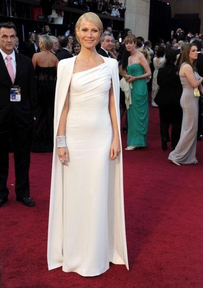 Gwyneth Paltrow fue la reina de los Oscar en 2012con este vestido colum...