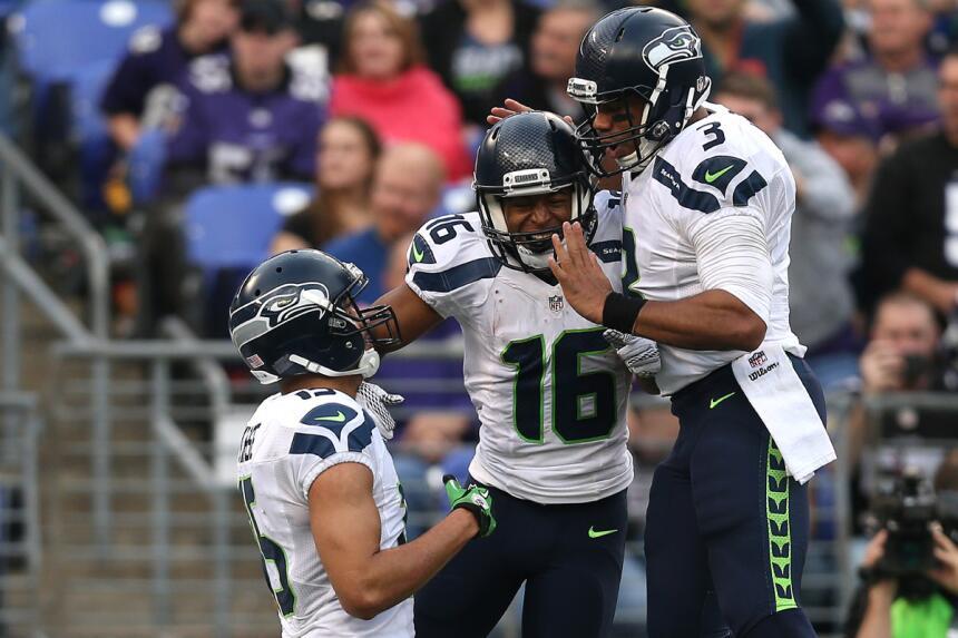 Cinco pases de TD de Russell Wilson para que Seahawks derrotaran a Raven...