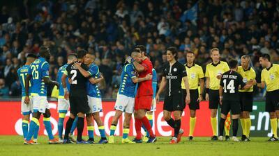 En fotos: Napoli y PSG empatan 1-1 en San Paolo y complican su estadía en la Champions