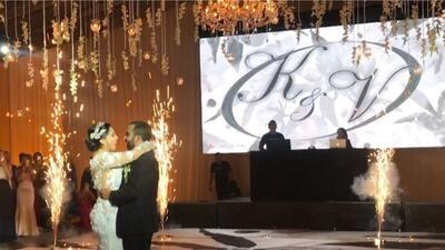 Vecente Fernández Jr y Karina Ortegón boda