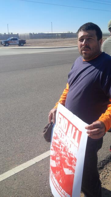 Protestas en las afueras del Centro de Detención Eloy