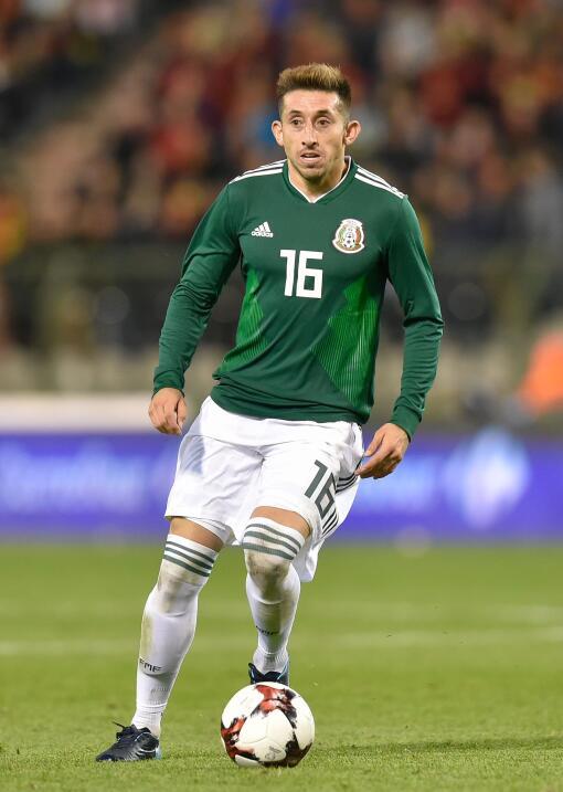 Héctor Herrera (Porto) - 64 partidos jugados (22 con Méxic...