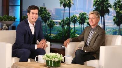 Danilo Carrera estuvo en el programa de Ellen DeGeneres ¡y le dijo sexy!