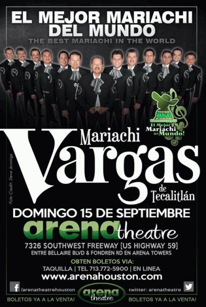 El mejor mariachi del mundo, el Mariachi Vargas de Tecalitlán, se estará...