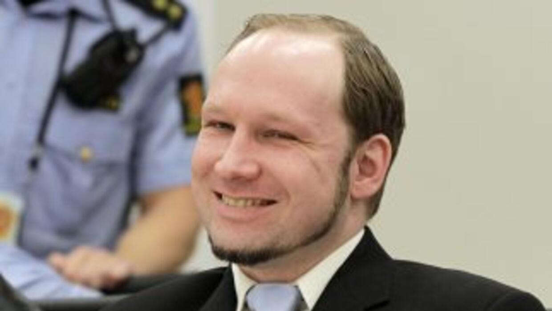 El ultraderechista Anders Behring Breivik autor confeso de los atentados...