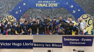 Campeones del Mundo son homenajeados en el metro de París
