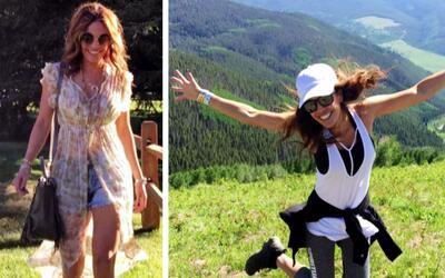 Así de bien se la pasa Karla Martínez en sus vacaciones por las montañas...