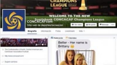 La cuenta de Facebook de la Concacaf fue hackeada
