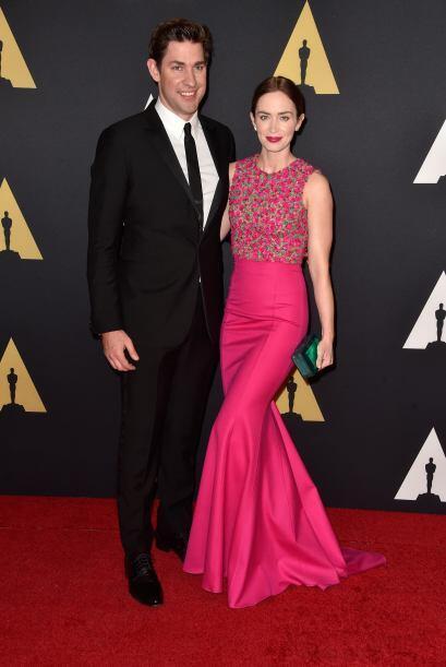 Emily Blunt y su esposo John Krasinski.