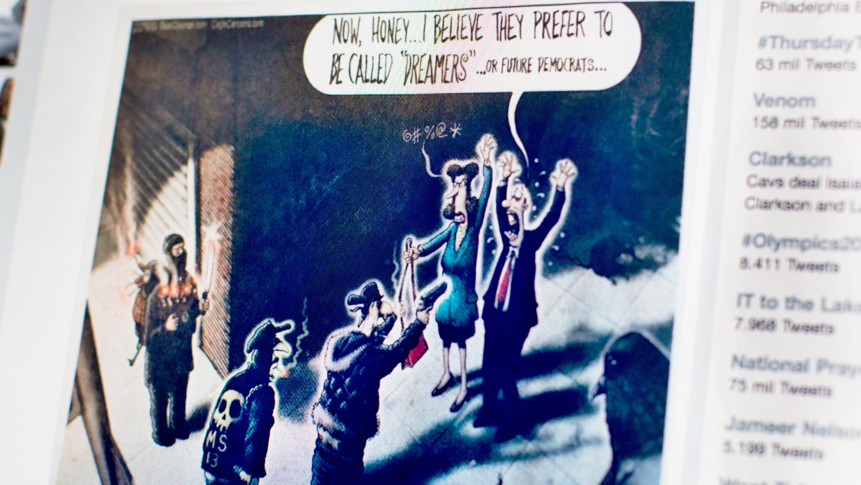 Esta caricatura causa indignación por comparar a los dreamers con ...